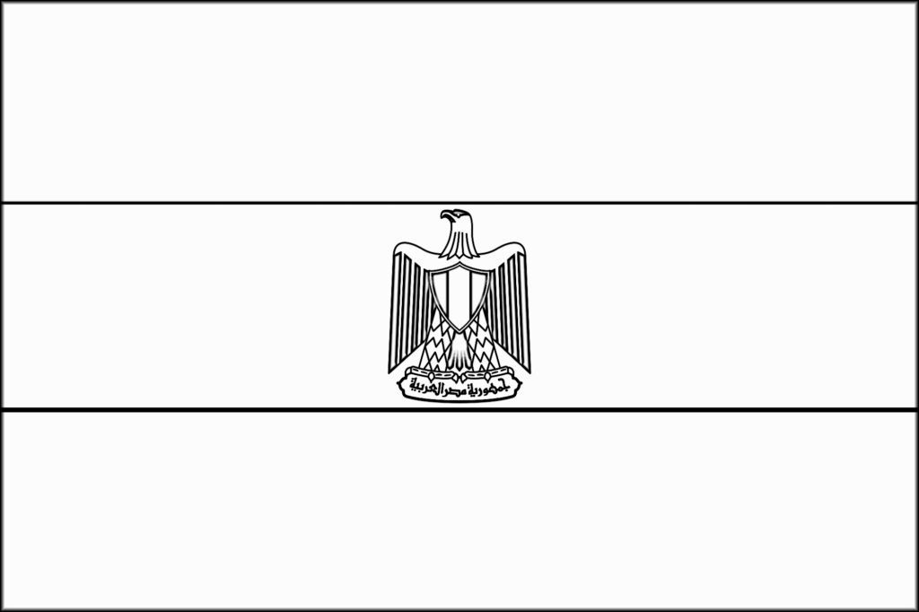 Egypt Flag Coloring Page