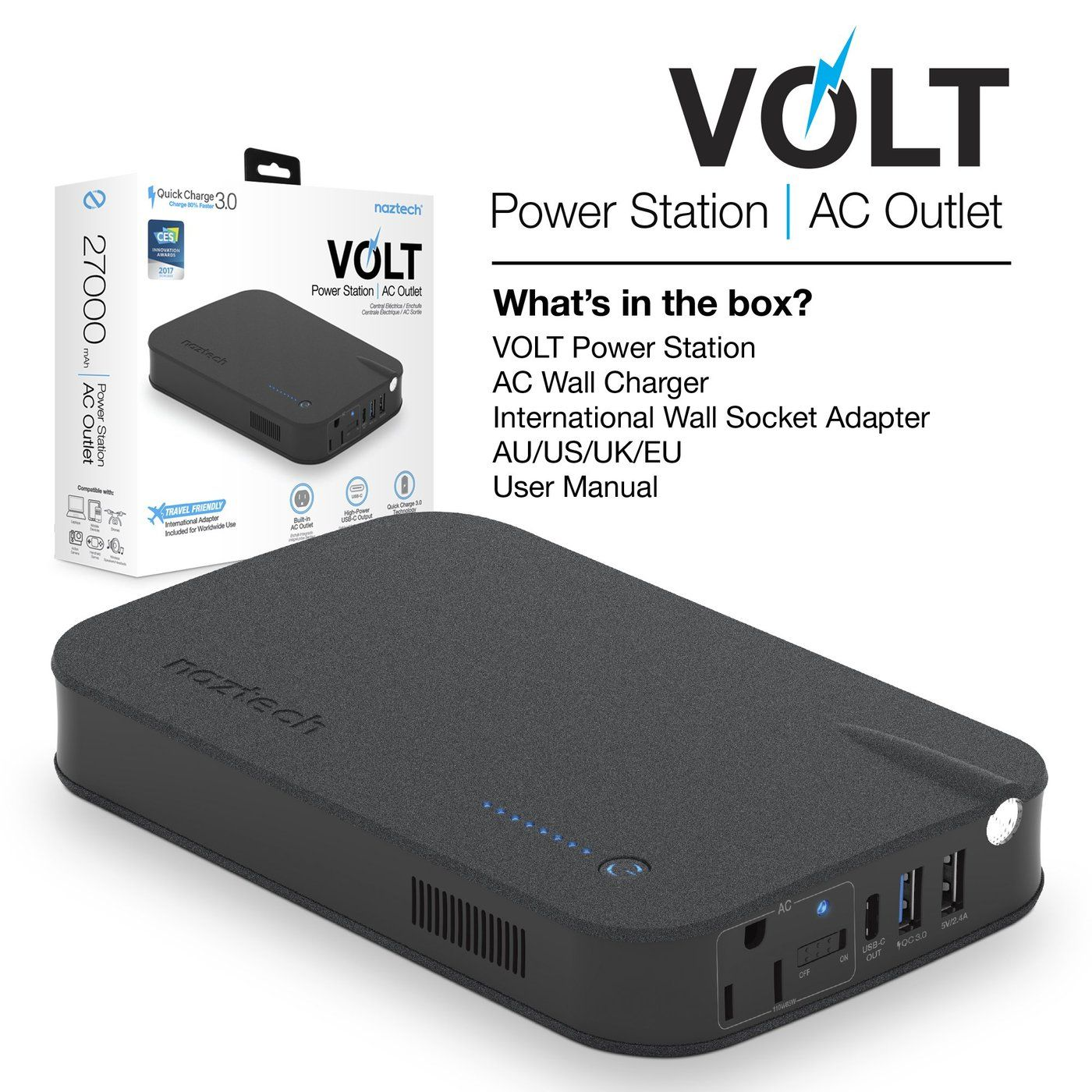 Naztech VOLT Power Station AC Outlet — getModern di 2020
