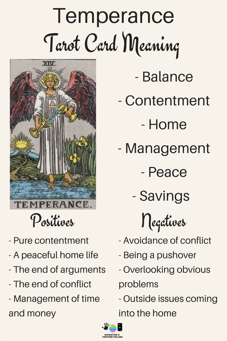 Temperance Tarot card meaning. An illustration from the Major