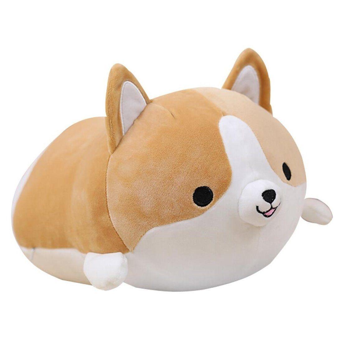 Levenkeness Corgi Dog Plush Pillow Soft Cute Shiba Inu Akita Stuffed Animals Toy Gifts Brown 11 8 In Corgi Dog Pet Toys Corgi Stuffed Animal