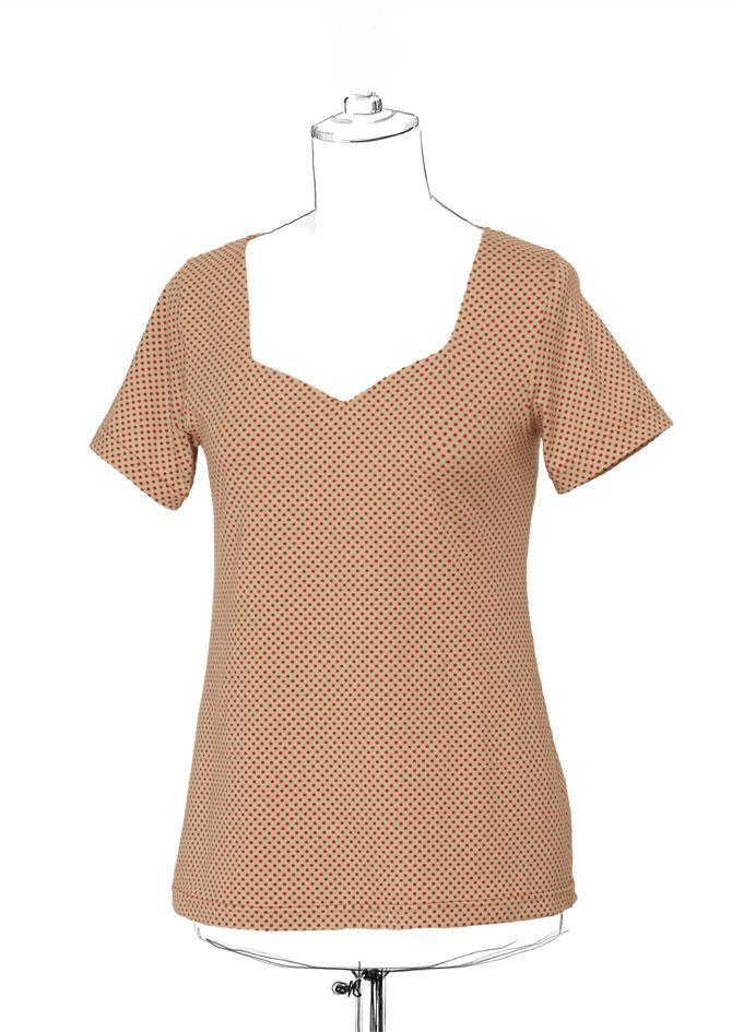 Free tshirt pattern! Badiane sizes 32-52.