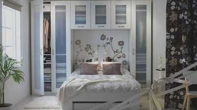 Bedroom Design Ideas 30 Small Bedrooms To Make Your Home Look Ger A Built In Style Wall Closet Area With See Through Gl
