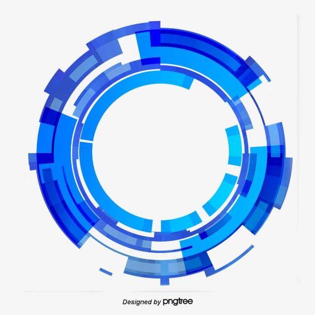 Blue Gradient Technology Circle Png And Psd Karya Seni Fantasi Grafis Karya Seni