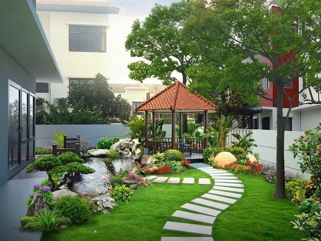 30 Cute Landscaping Ideas You Can Put In House Page Backyard Landscaping Designs Backyard Landscaping Backyard