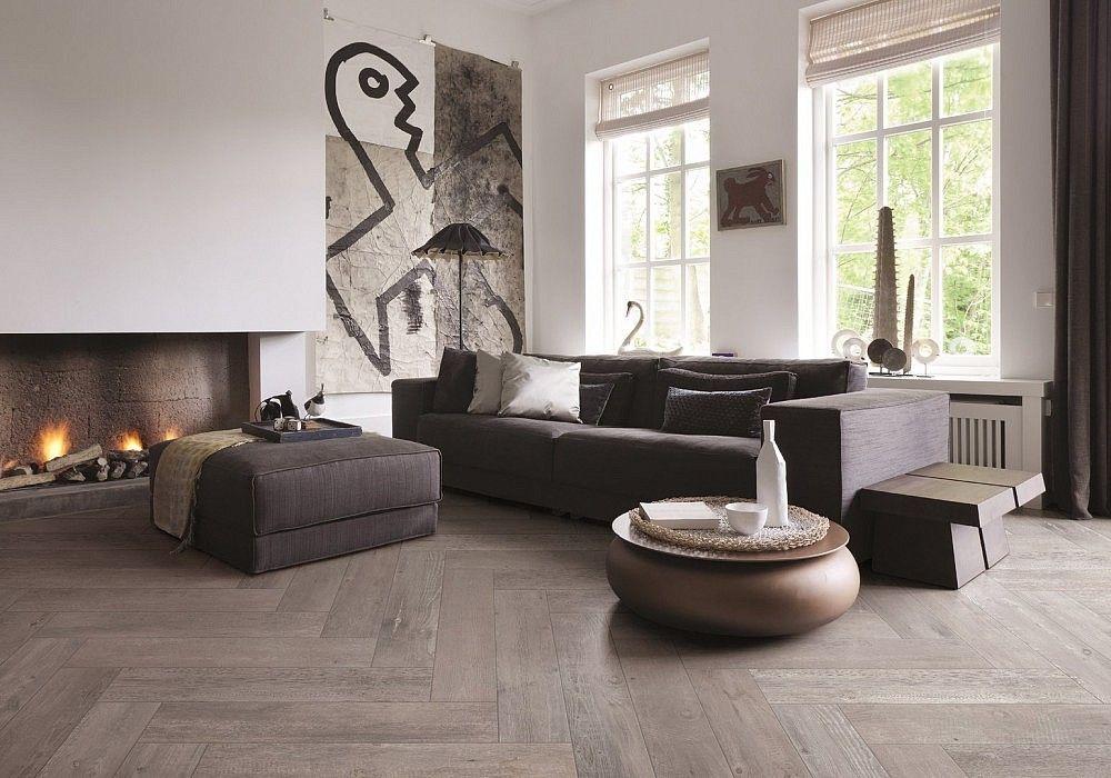 Woonkamer Bruin Wit : Houtlook tegels woonkamer bruin wit interieur