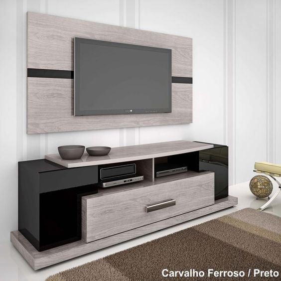 Rack para tv plasma blanco buscar con google ideas for Modelos de muebles para tv modernos