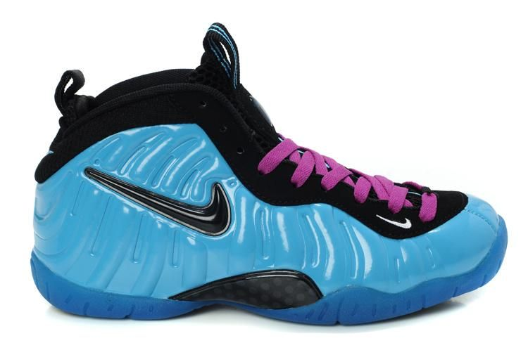 best service b2f40 17de8 Nike Foamposite Pro Women Blue Pink Black | Air Foamposite ...