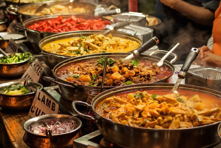 12 Instead Of Up To 27 98 For An All You Can Eat Indian Buffet For Two At Riverside Lounge Save Up To Indian Wedding Food Wedding Buffet Food Buffet Food