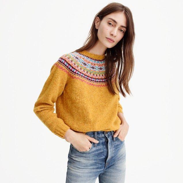 harley of scotland™ for j.crew fair isle sweater : women sweaters ...