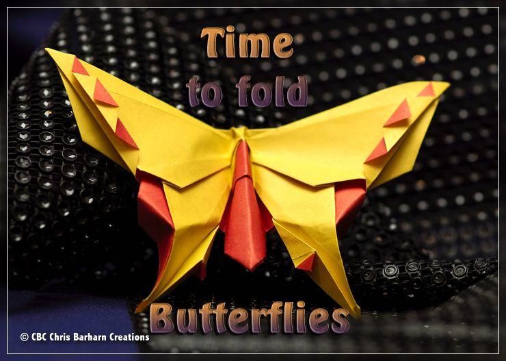 Butterfly - dann kann der Frühling ja kommen. Butterfly design by Michael G. LaFosse folded by Chris Barharn Creations