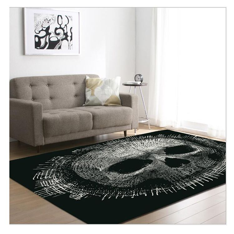 3d Skull Art Print Carpet Rug Printing Hallway Carpets Bedroom
