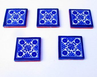 Mexican Tile Tribal Housewares Colorful Coaster House Decor