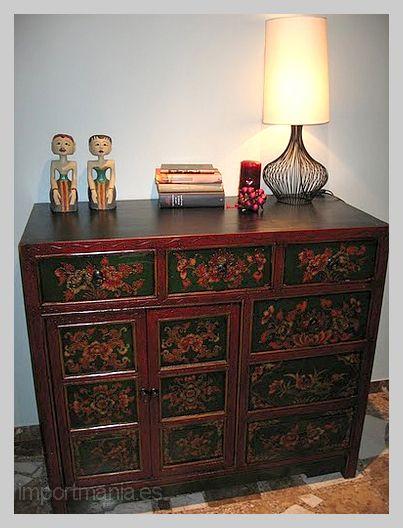 Mueble chino tibetano tina de ciudad real muebles chinos for Muebles tibetanos