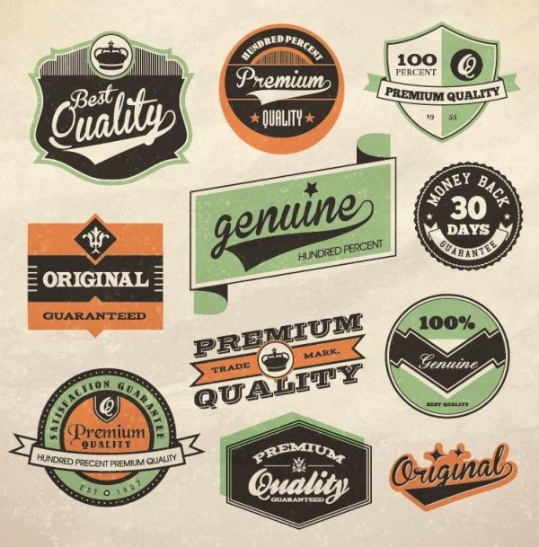 100 Free Vintage And Retro Labels And Badges Vintage Logo Design Retro Typography Vintage Labels