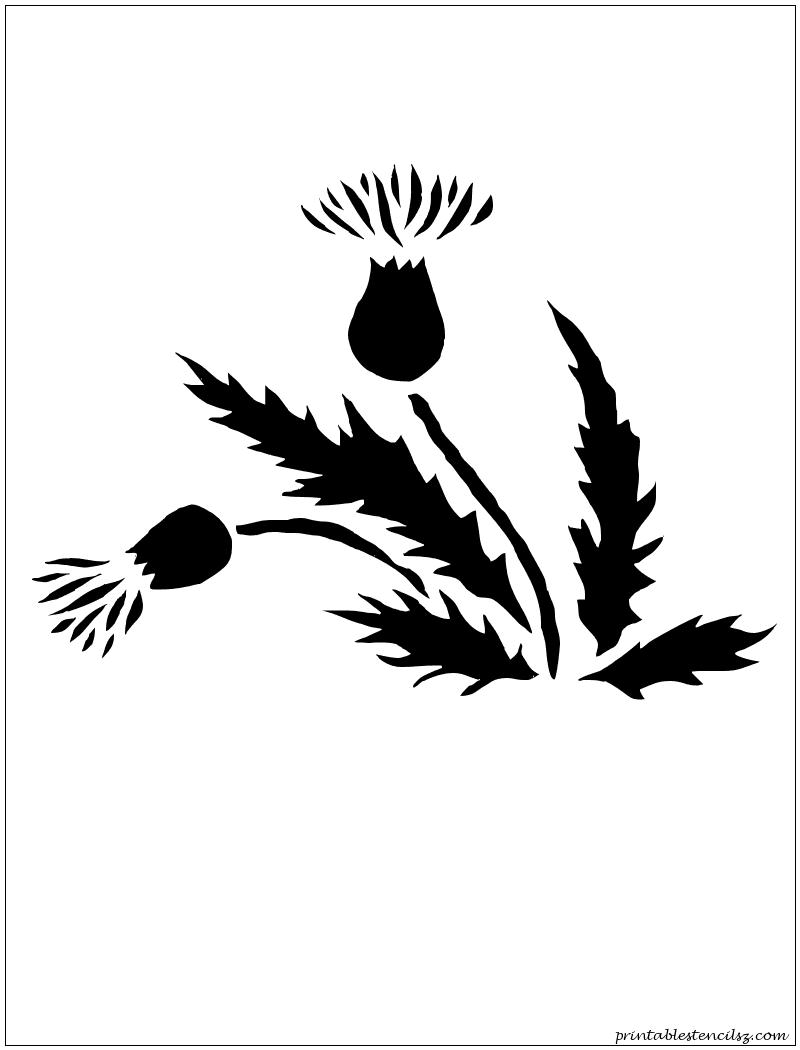 flowers printable stencils silhouettes pinterest printable
