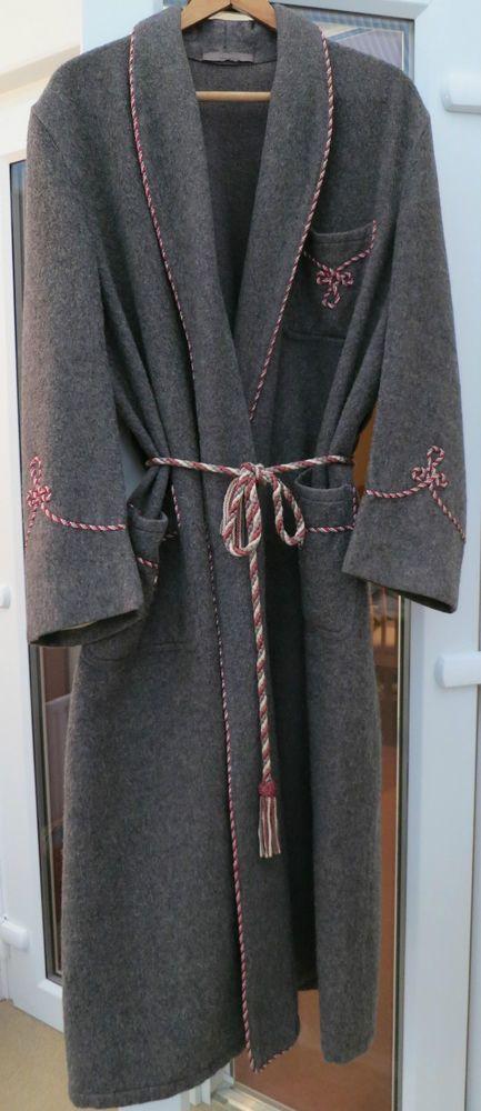 Vintage 1930\'s / 40\'s Heavy Wool Smoking Jacket Dressing Gown 44 ...