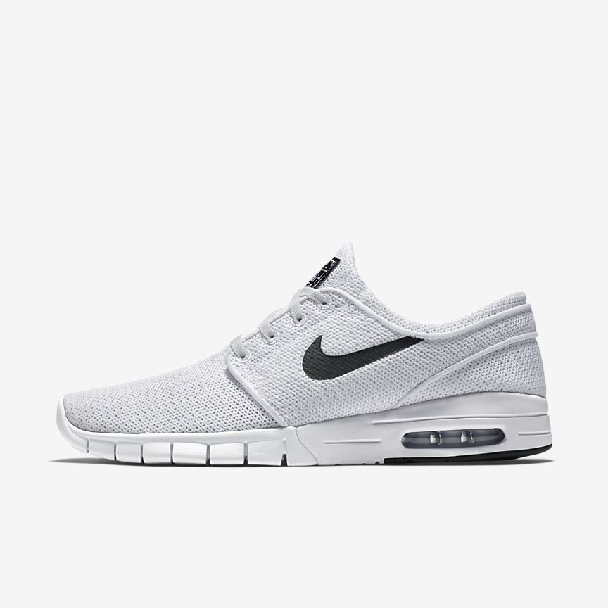 Nike SB Stefan Janoski Max L Men's Skateboarding Shoes Black/White aW6389K
