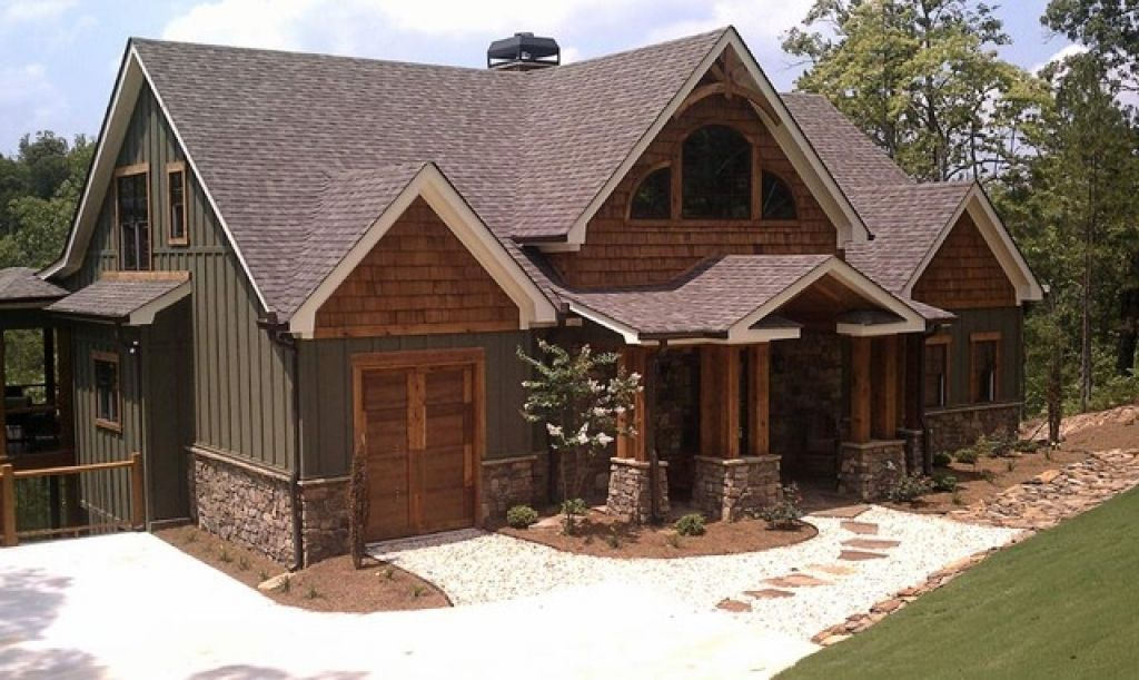 Trends Asheville Mountain Home Pertaining To Exterior Paint Combinations Mountain Home Mountain Home Exterior Rustic House Plans Rustic Houses Exterior