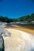 Raudal de Masaca en el río Mesay, departamento de Caquetá.