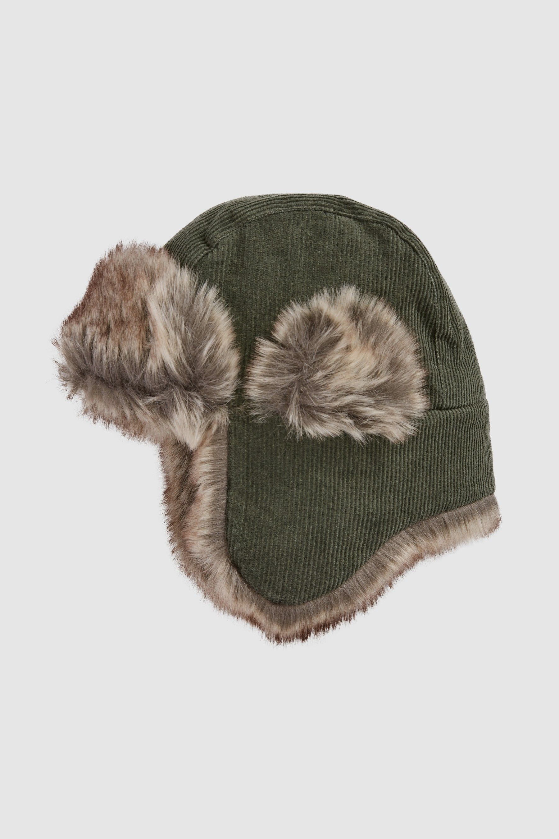 4e00c83bee40 Boys Next Khaki Cord Trapper Hat (Younger) - Green