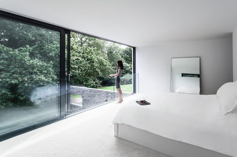 22 Gorgeous Bedrooms With Glass Sliding Doors Home Design Lover Amazing Bedroom Designs Modern Bedroom Design Modern Bedroom