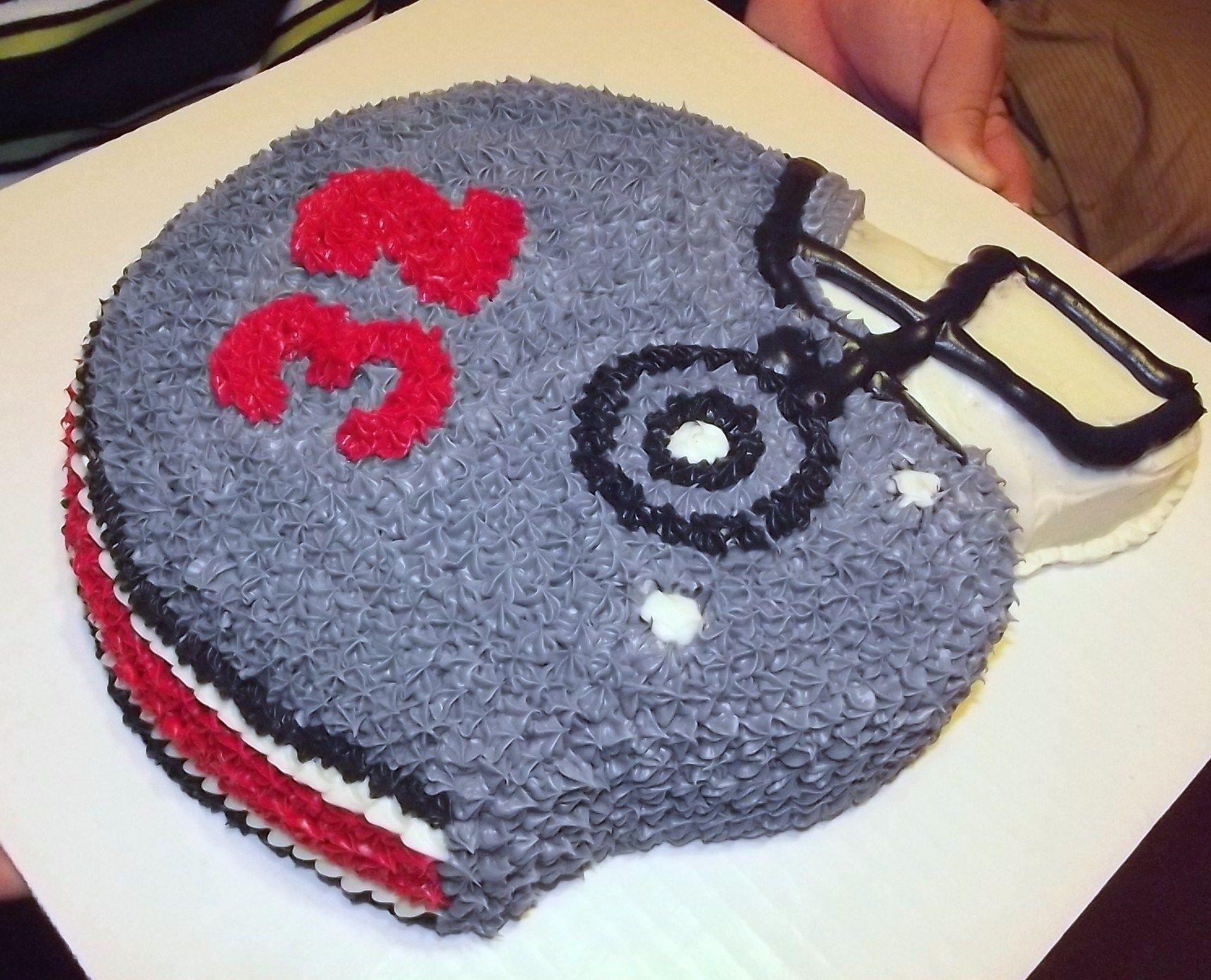 Football Helmet Cake cake decorating Pinterest Football