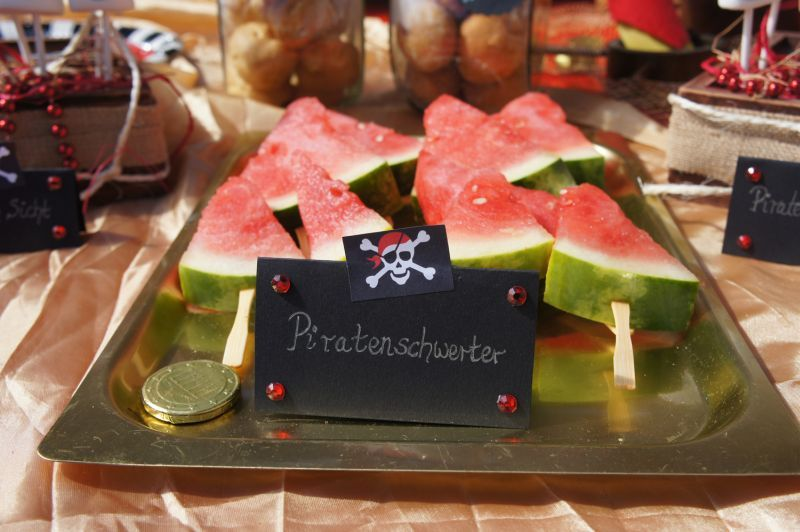 Piraten party pirate party wassermelone melone for Dekoration essen