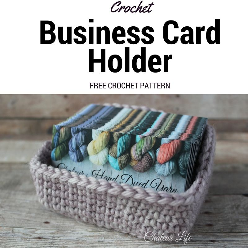 Crochet Business Card Holder – Free Crochet Pattern – Chaleur Life ...