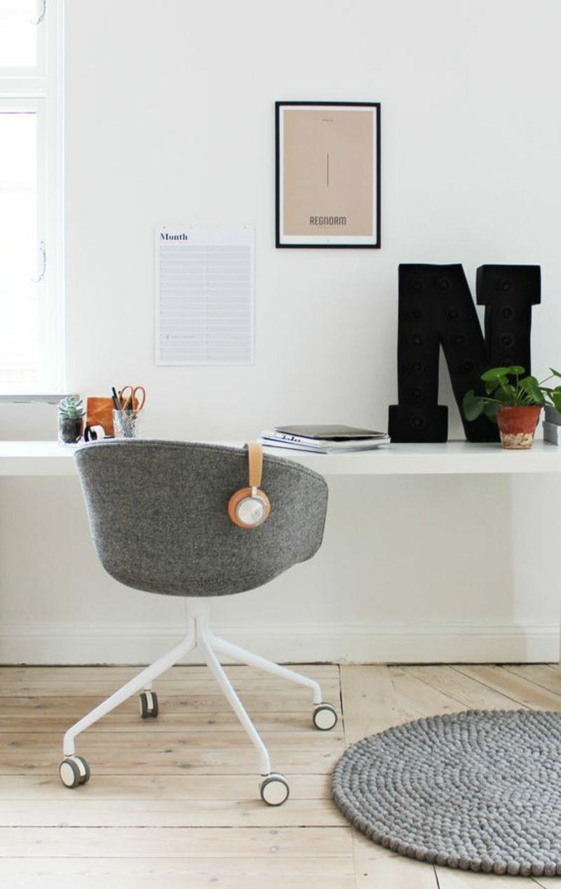 skandinavische Einrichtungsbeispiele Arbeitszimmer Büromöbel ...