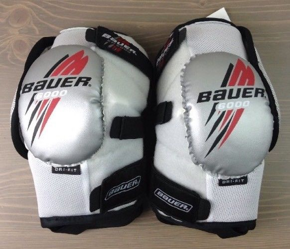 Hockey Elbow Pads Large Bauer Nike Ep 6000 Senior Bicep Forearm Guard Wht Nwt Sporting Goods Team Sports Ice Hockey Elbow Pads Forearm Guard Elbow Pads