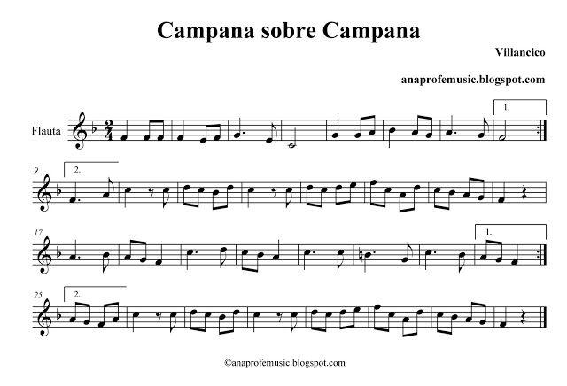 Imagenes De Villancicos Campana Sobre Campana.Ana Music Partitura Campana Sobre Campana Villancico