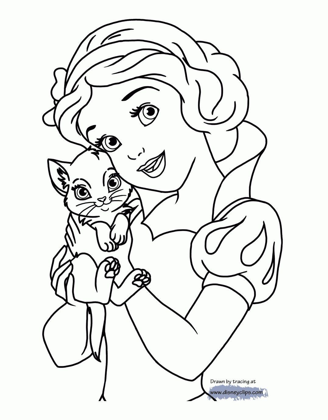 Snow White And The Seven Dwarfs Coloring Pages 41 Jpg 1077 1376