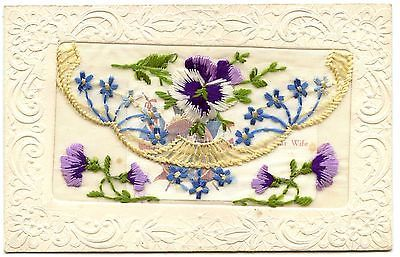 Old rare postcard ww1 #embroidered silk unused #(ref: #ak152),  View more on the LINK: http://www.zeppy.io/product/gb/2/142051532901/