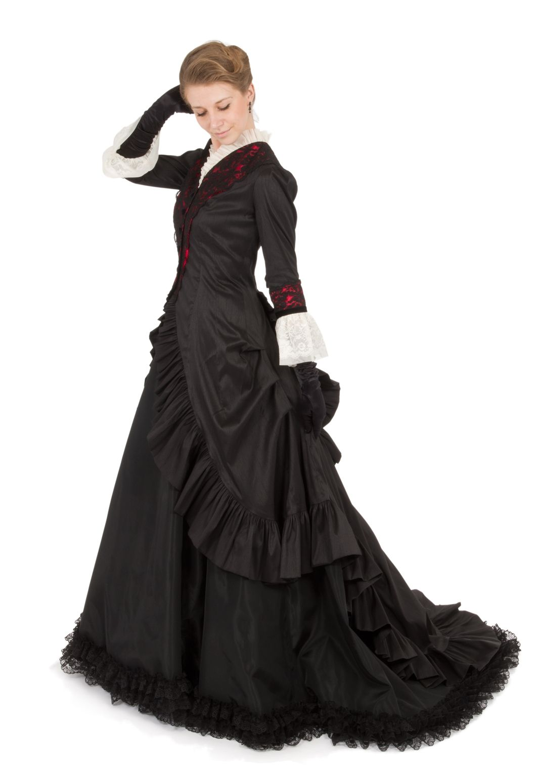 A beautiful romantic victorian style dress a perfect dress for a