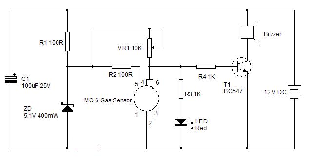 Lpg Gas Sensor Circuit And Its Working smoke detector wiring ... Smoke Detector Wiring Circuit Diagram on