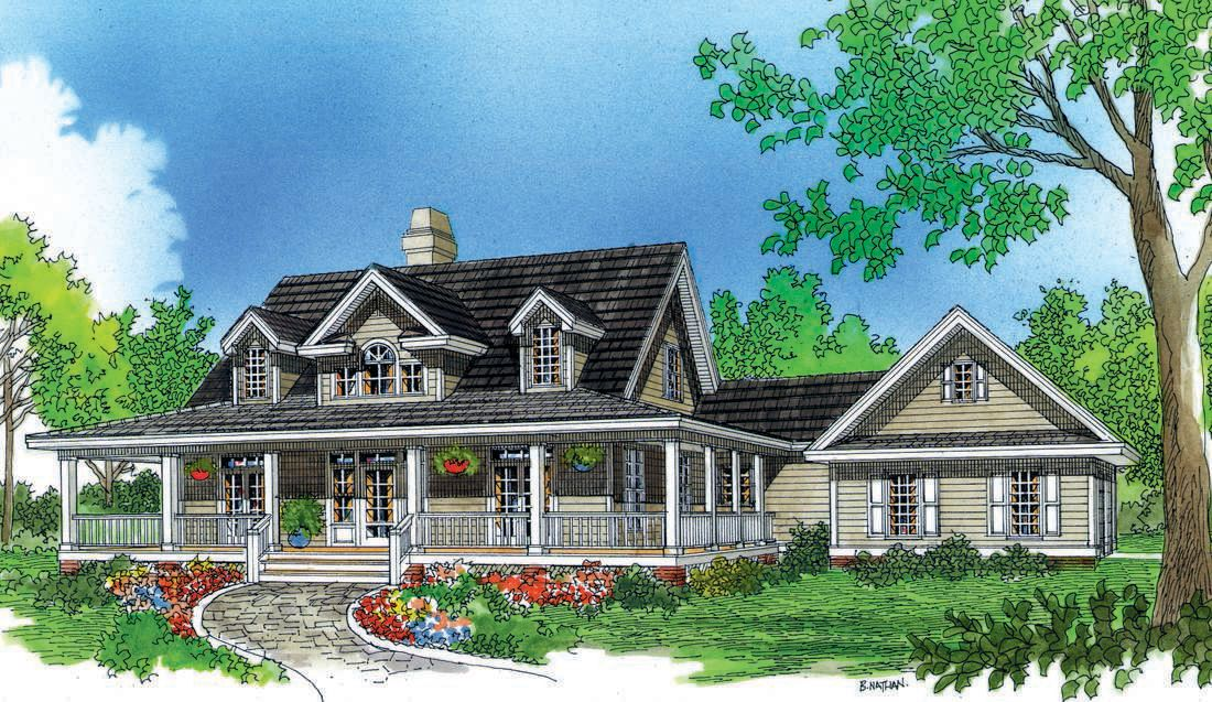 Photos Of Plan 545 The Sunderland Porch House Plans Farmhouse Style Exterior House Plans