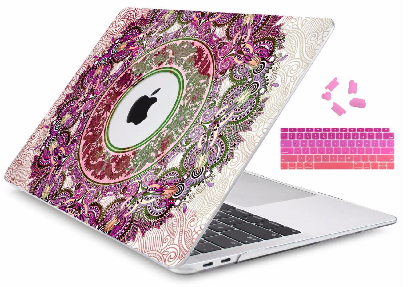 """Floral Laptop Hard Shell Keyboard Skin For New Macbook Air 13/"""" Retina 2018 A1932"""