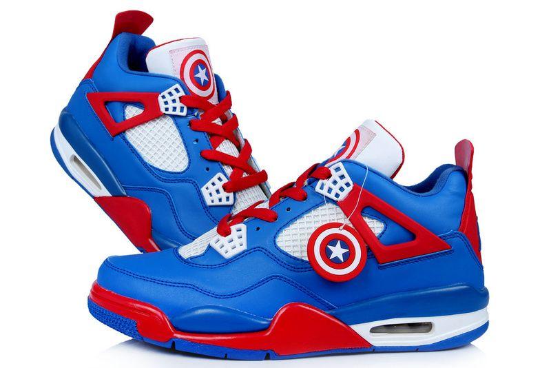 Air Jordan 4 Retro 2013 Captain America Blue Red White Mens Shoes, cheap  Jordan If you want to look Air Jordan 4 Retro 2013 Captain America Blue Red  White ...
