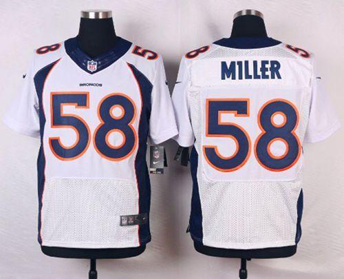981d03ebf Nike Broncos  58 Von Miller White Men s Stitched NFL New Elite Jersey And  Bengals Vontaze Burfict 55 jersey