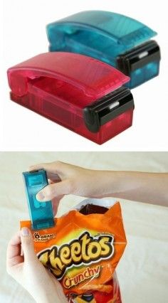 Just Slide This Bag Resealer Across The Top Of An Open Bag To Lock