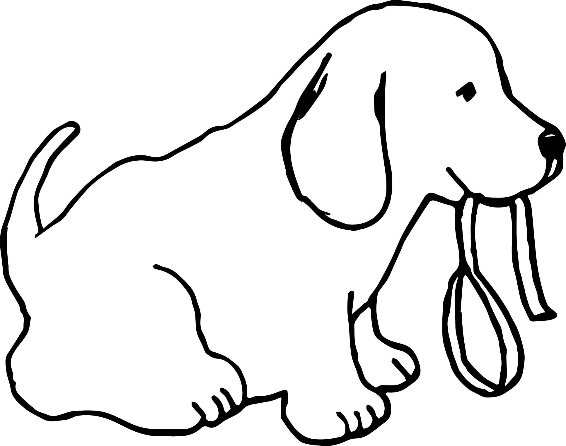 Funny Dogs Cute Dog With Leash Color Puppy Dog Coloring Page Https