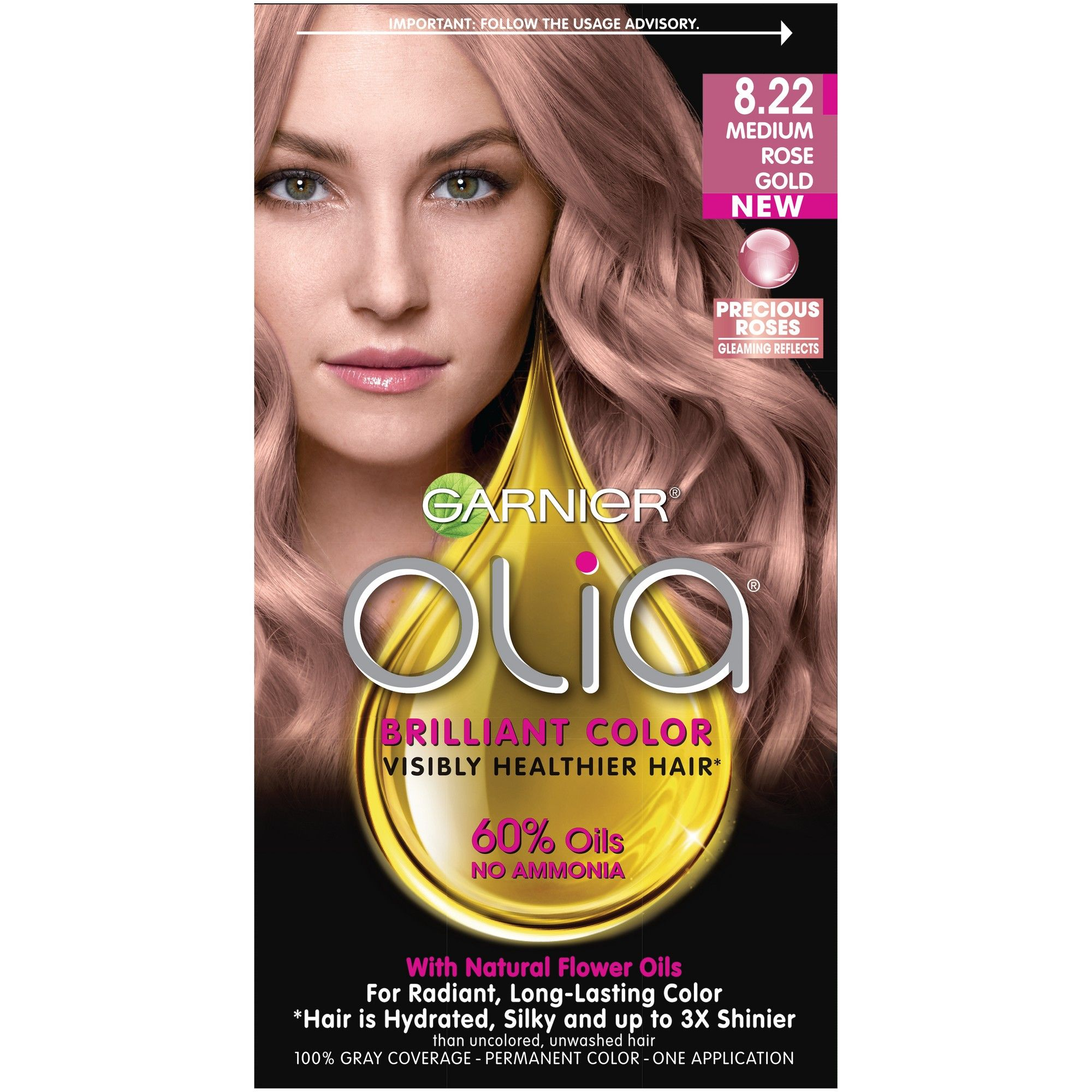 Garnier Olia Rose Gold Blonde 8 22 With Images Olia Hair Color