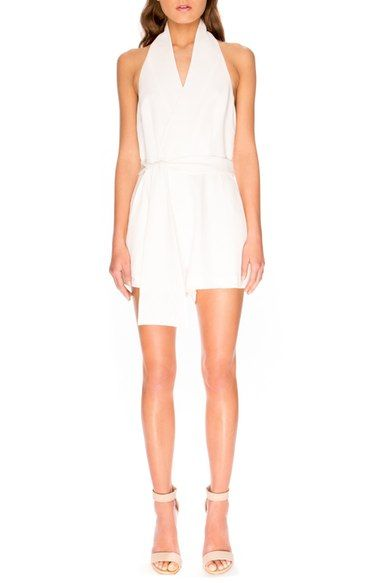 a8b8587f467f Keepsake the Label  White Shadows  Wrap Front Romper available at  Nordstrom