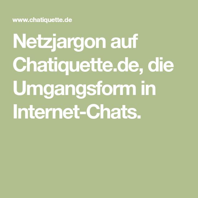 Netzjargon Auf Chatiquettede Die Umgangsform In Internet