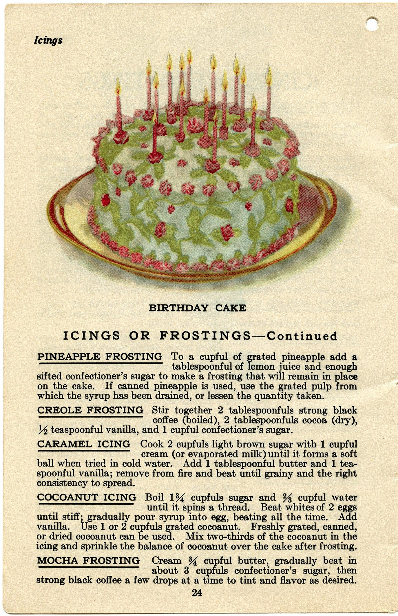Cake Fillings And Frostings Vintage Recipes Vintage Baking Cake Fillings