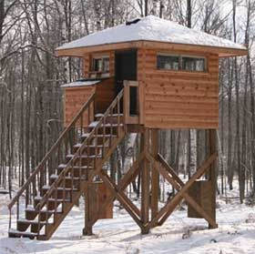Deer blind floor plans add to trip planner view on the for Homemade hunting shack