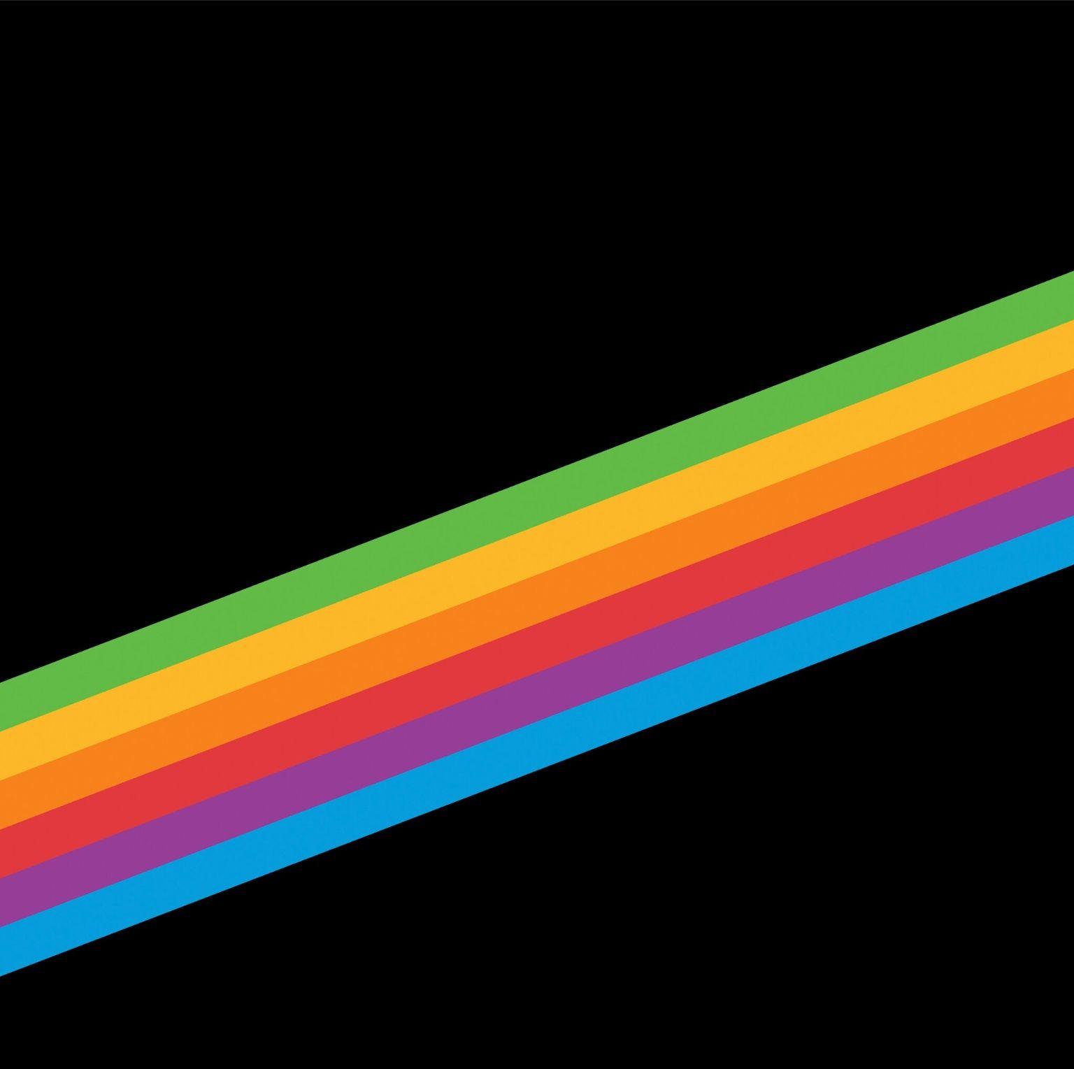 Black Rainbow Stripe Ios 11 Wallpaper Rainbow Wallpaper Iphone Wallpaper Universe
