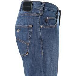 Emporio Armani Jeanshose Herren, Baumwoll-Stretch, blau Armani #denimcutoffshorts