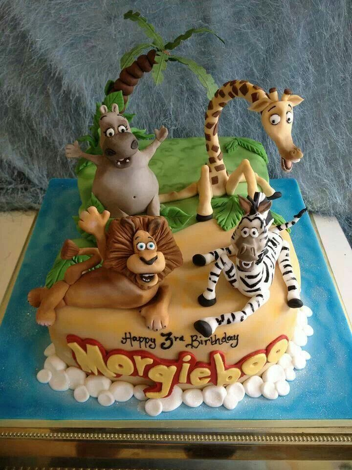gâteau madagascar ♡ | beaux gâteaux ♤ anniversaire | pinterest