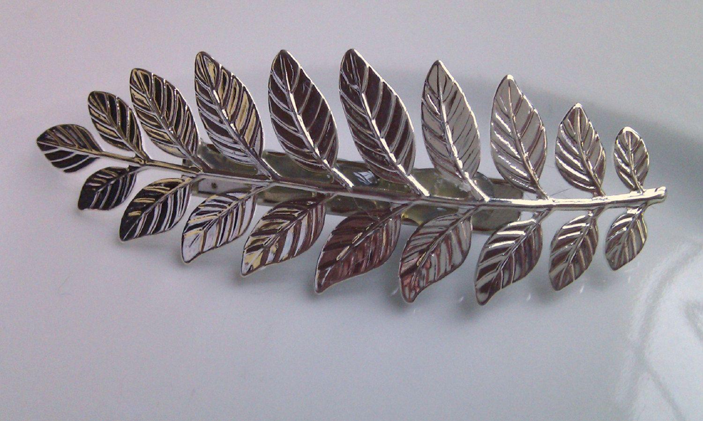 Leaf Barrette Clip Grecian Leaf Barrette Clip Leaf Hair